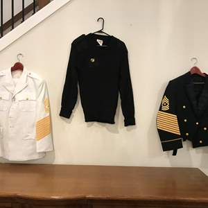 Lot # 229 - Two Formal Military Jackets, Military Sweater