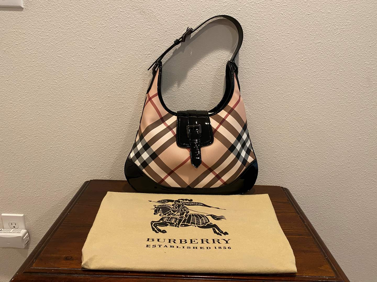 Lot # 257 - Like New Burberry Purse w/Dust Cover (main image)