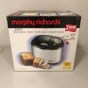 Lot # 278 - Morphy Richards New in Box Bread Maker
