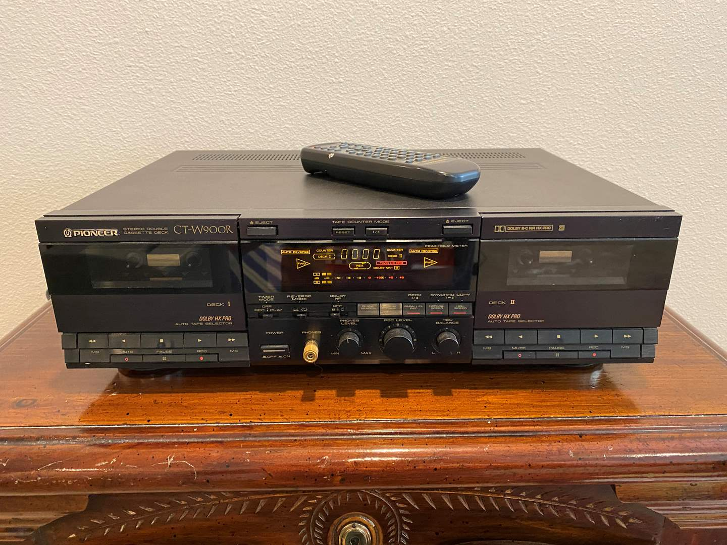Lot # 268 - Pioneer CT-W900R Double Cassette Deck - Powers On (main image)