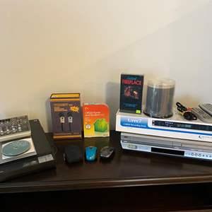 Lot # 302 - UREC7 Recording Deck, Trident Micro-Phone, Mackie 402-VL23 Mixer, Epson Scanner, JVC DVD/VHS Player & More..