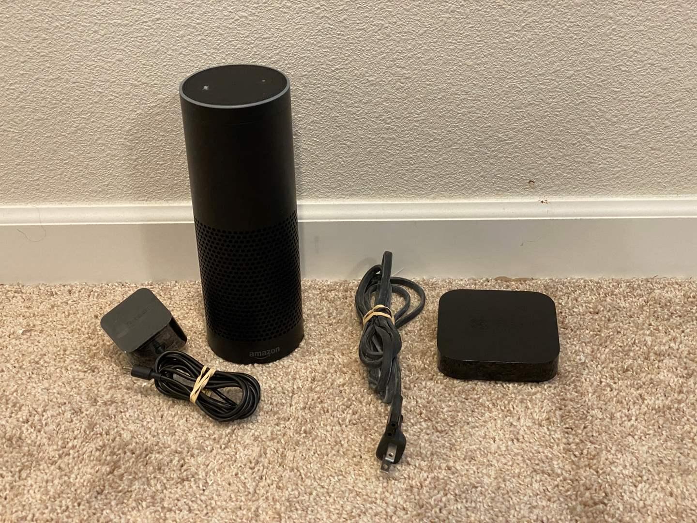 Lot # 303 - Amazon Echo 1st Edition Model SK705Di, Apple TV Model-A1378  (main image)