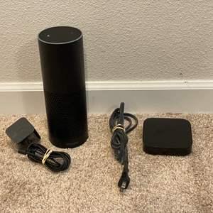 Lot # 303 - Amazon Echo 1st Edition Model SK705Di, Apple TV Model-A1378