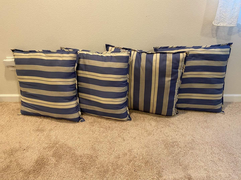 Lot # 310 - Four Large Throw Pillows (main image)