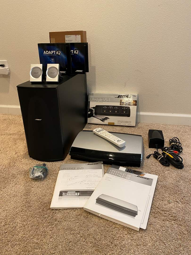 Lot # 266 - Bose Lifestyle - 38 DVD Player, Bose Lifestyle VS-1 Video Expander, Bose Speakers & More.. (main image)