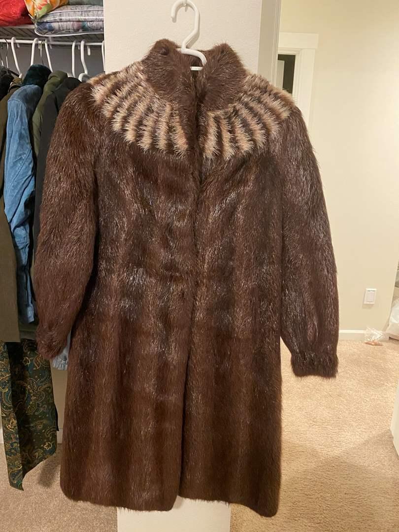 Lot # 314 - Faux Fur Coat - Size 38 (main image)