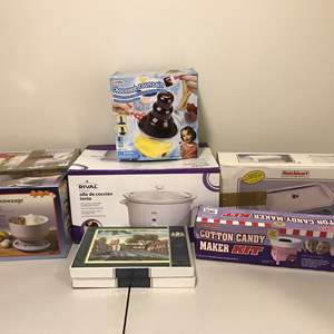 Lot # 300 - New in Box Rival Slow Cooker, Lightly Used Chocolate Fountain, Hot Pot Food Warmer