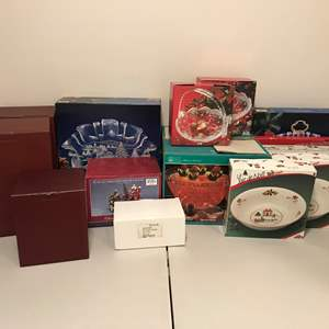 Lot # 335 - Large Selection of Crystal Serving Dishes, Villeroy & Boch Toy's Fantasy Items & More..