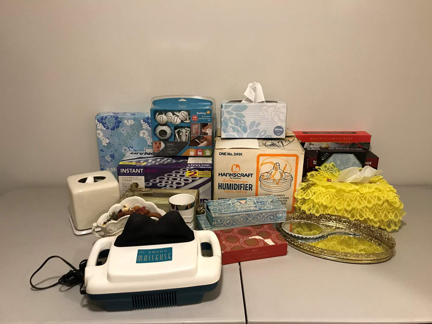Lot # 336 - Humidifier, ConAir Rollers, Child Proofing Kit, Avon Soaps & More.. (main image)