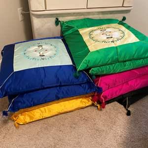 Lot # 330 - Five Sets of Korean Style Silk Pillows