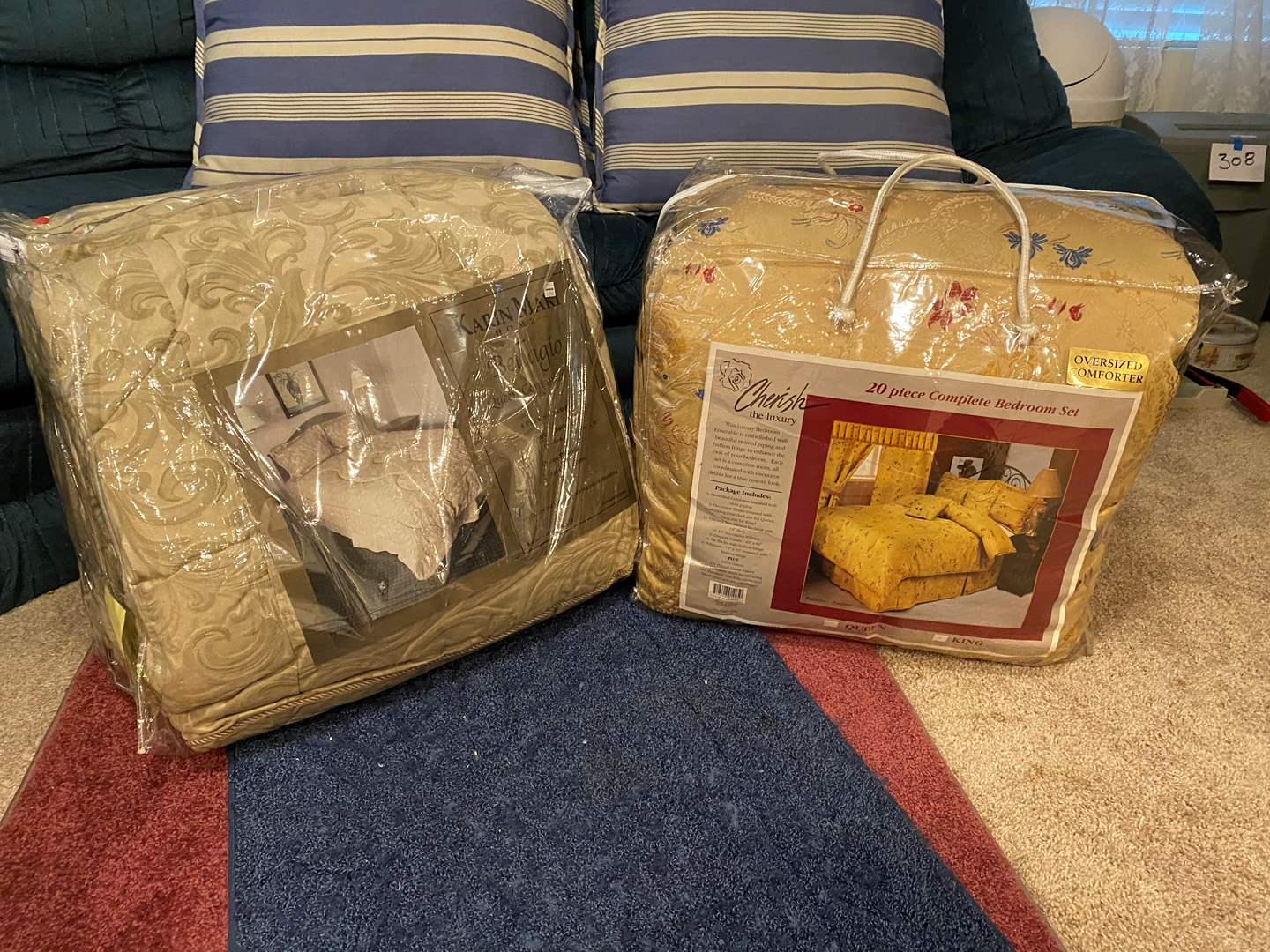 Lot # 350 - One New King Size Bedding Sets & One New Queen Size Set - See Pictures for Details (main image)