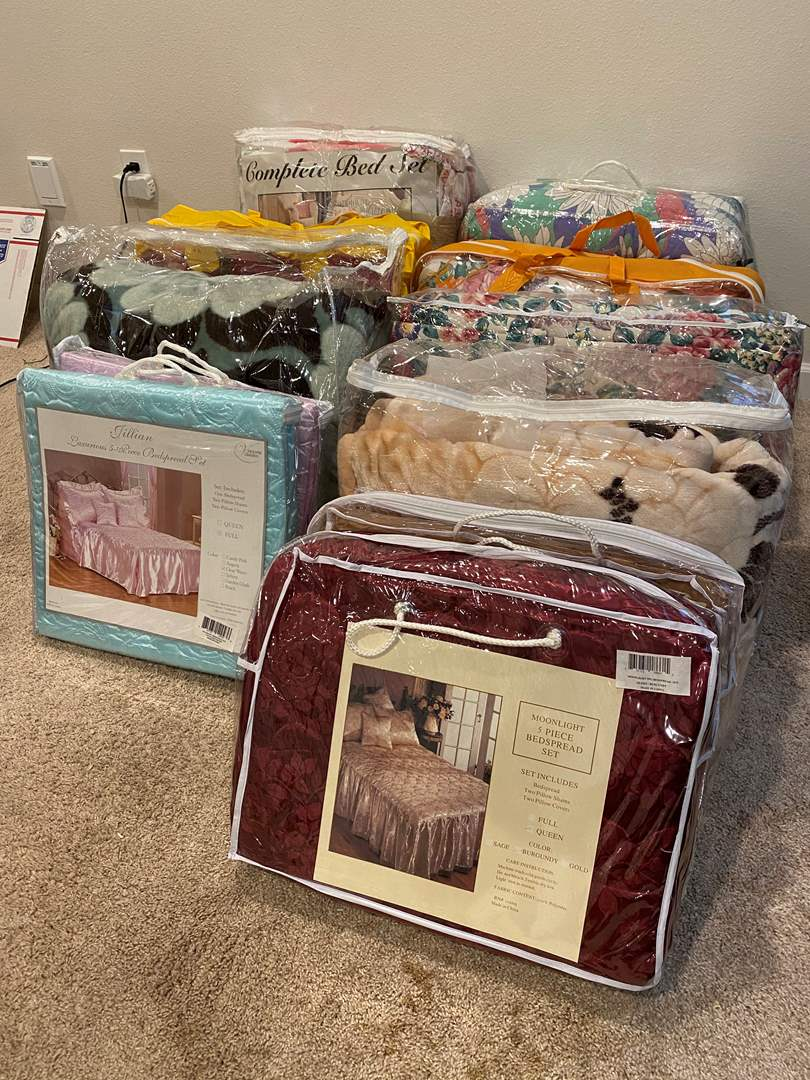 Lot # 352 - New & Used Comforter Sets of Various Sizes - See Pictures for Details  (main image)