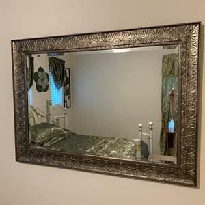 Lot # 355 - Nice Wood Framed Mirror