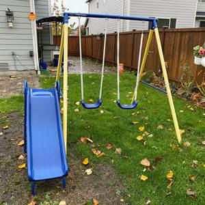 Lot # 375 - Metal Swing Set