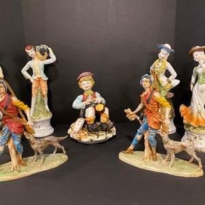 Lot # 170 - Capodimonte Figurine & Other Misc. Porcelain Figurines