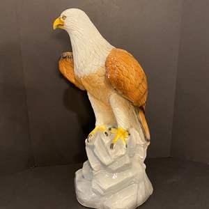 "Lot # 174 - Large Ceramic American Bald Eagle - 24"" Tall"