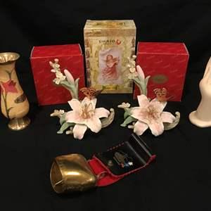 Lot # 225 - Porcelain Flowers, Decor & Goebel Coffee Mugs