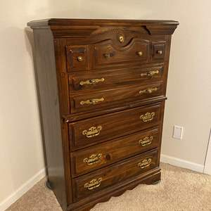 Lot # 248 - Five Drawer Wood Dresser