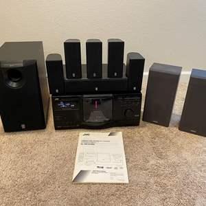 Lot # 311 - JVC XL-MC334 200 Disk Automatic Changer w/Yamaha Surround Speaker System