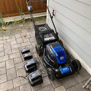 Lot # 348 - Kobalt 80V Max Battery Powered Lawn Mower - Works