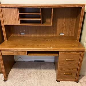 Lot # 371 - Wood Office Desk