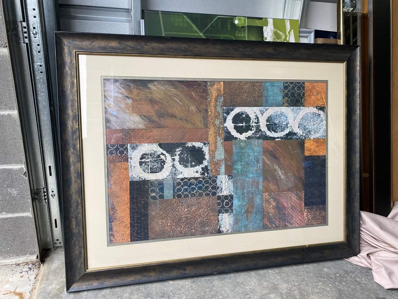Lot # 24 - Large Framed Abstract Print (main image)
