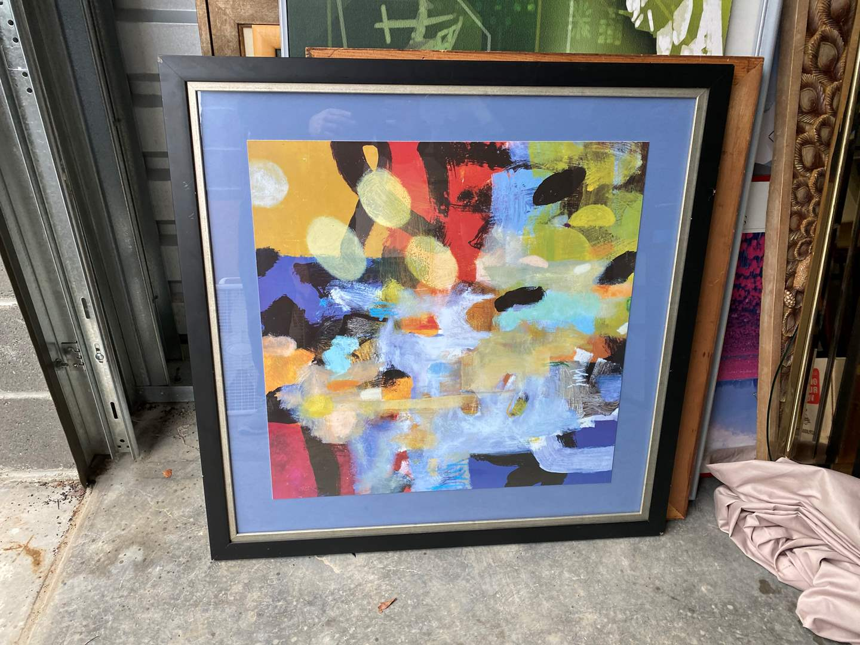 Lot # 25 - Large Framed Abstract Print  (main image)