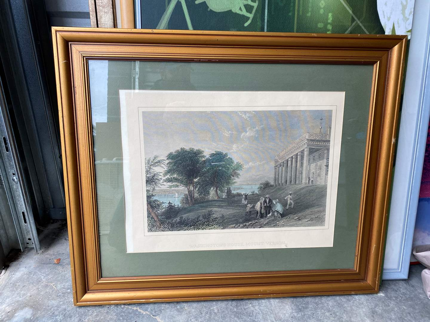 Lot # 26 - Framed Lithograph of Washington's House, Mount Vernon (main image)