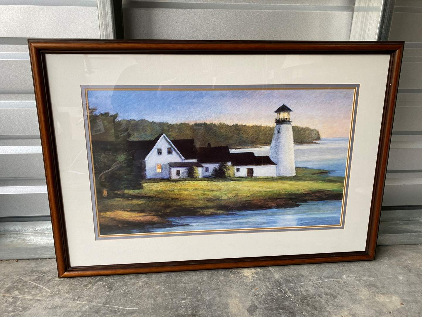 """Lot # 30 - Nicely Framed Print """"First Light"""" by Wadling  (main image)"""