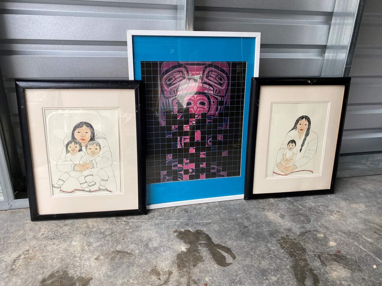 Lot # 32 - Two Pieces of Alaskan Artwork & One Print  (main image)