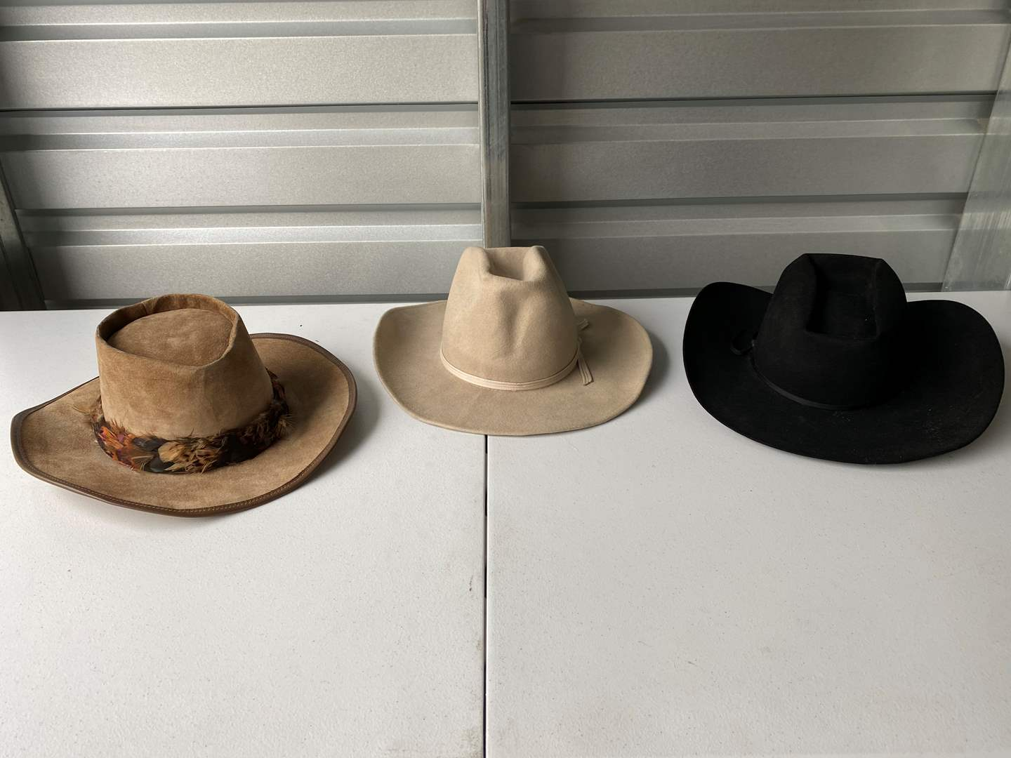 Lot # 38 - Three Nice Cowboy Style Hats - (See Pictures) (main image)