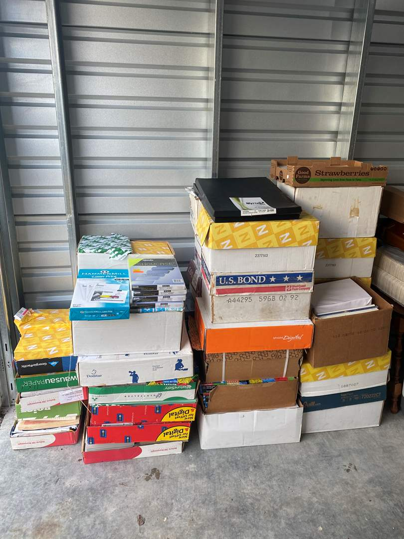 Lot # 60 - Large Selection of Different Type of Printer Paper & Other Misc. Paper Products  (main image)