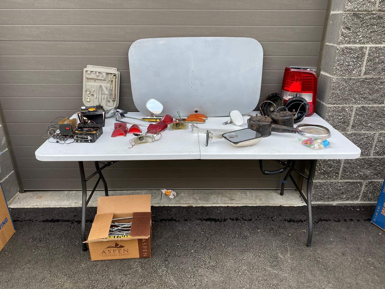 Lot # 68 - Vintage Car Parts, Tire Chains, Key Chains & More.. (main image)