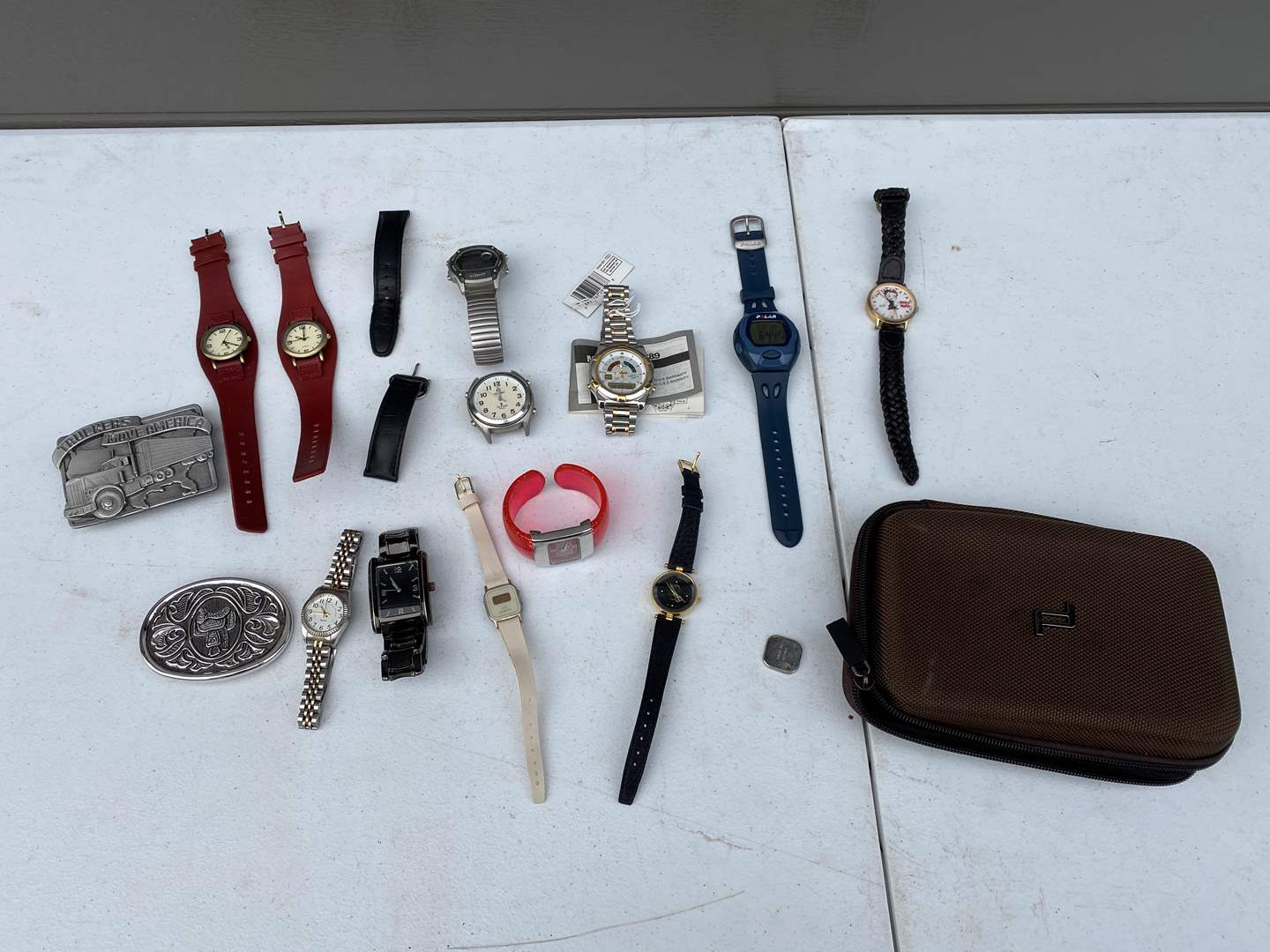Lot # 86 - Misc. Belt Buckles & Watches - See Pictures for Details (main image)