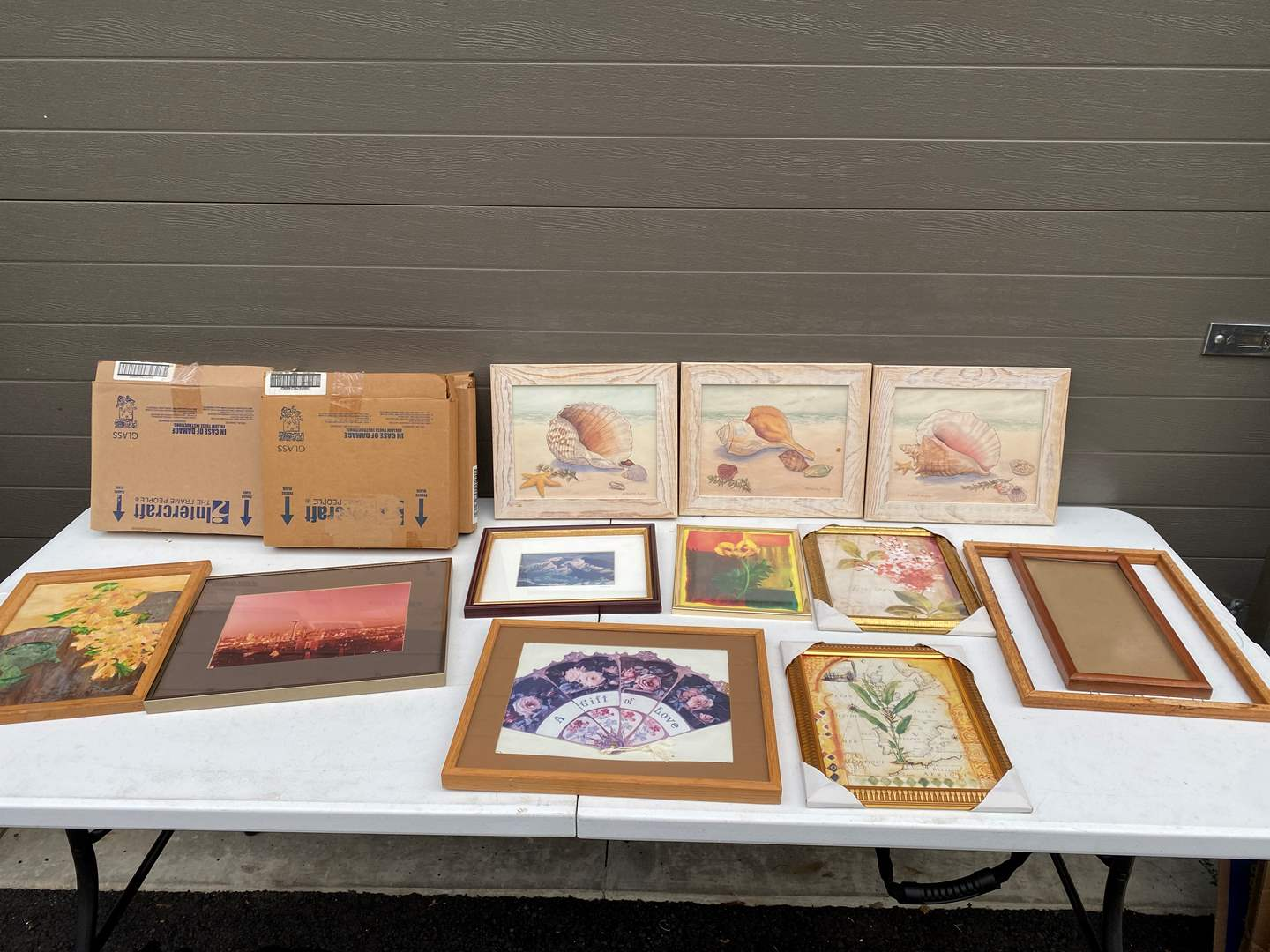 Lot # 89 - Misc. Art Prints of Various Sizes, 5 Boxes of New Picture Frames (main image)