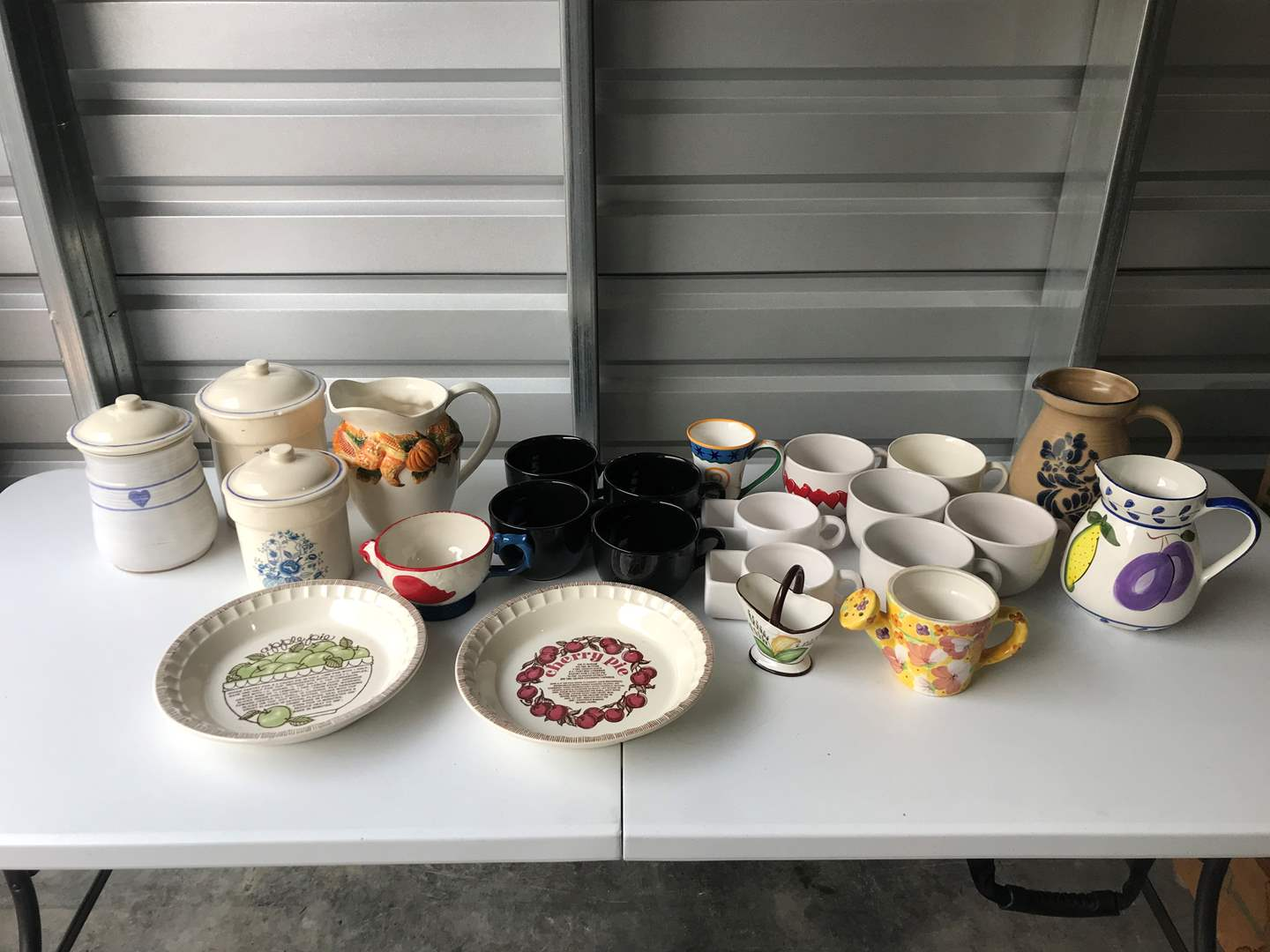 Lot # 55 - Coffee Mugs, Canisters & More.. (main image)