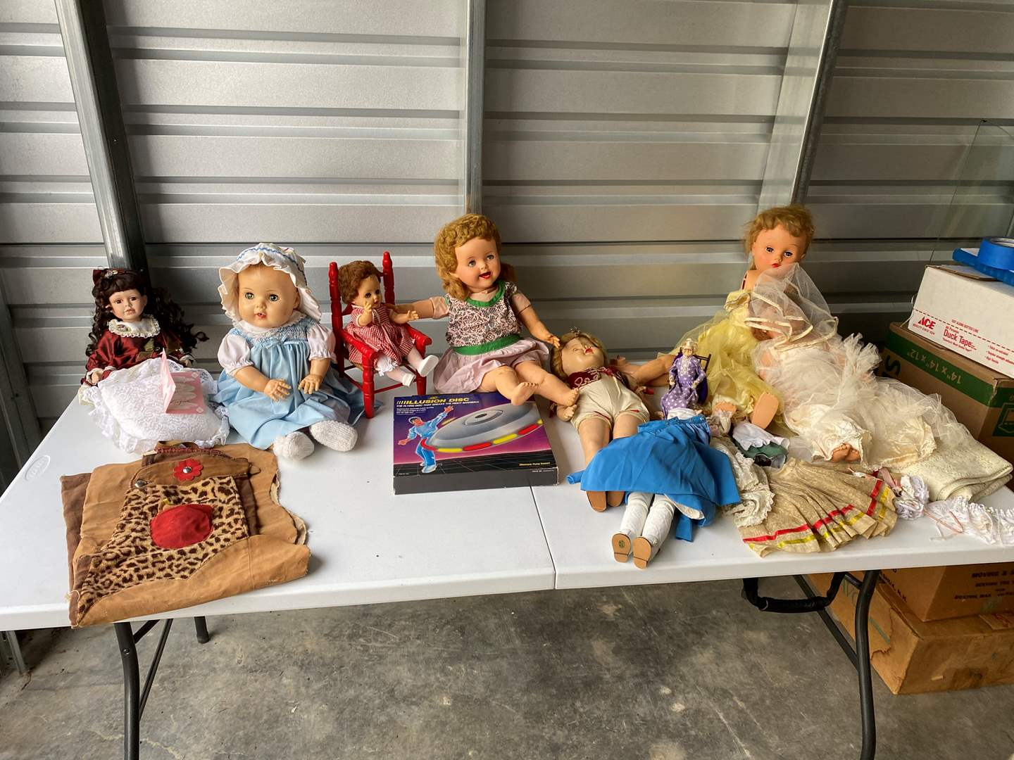 Lot # 56 - Selection of Dolls - 3 Porcelain Dolls, All Others Plastic - (See Pictures) (main image)