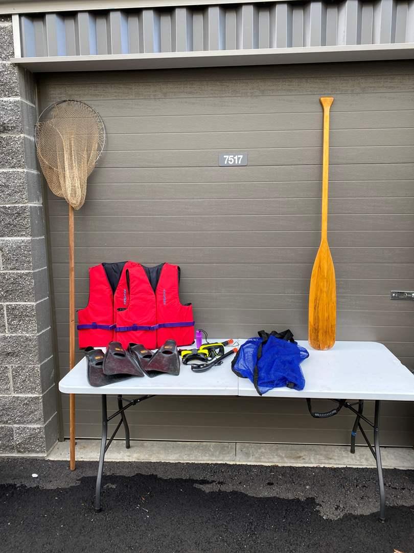 Lot # 59 - Snorkeling Gear, Fishing Net & Life Jackets (main image)