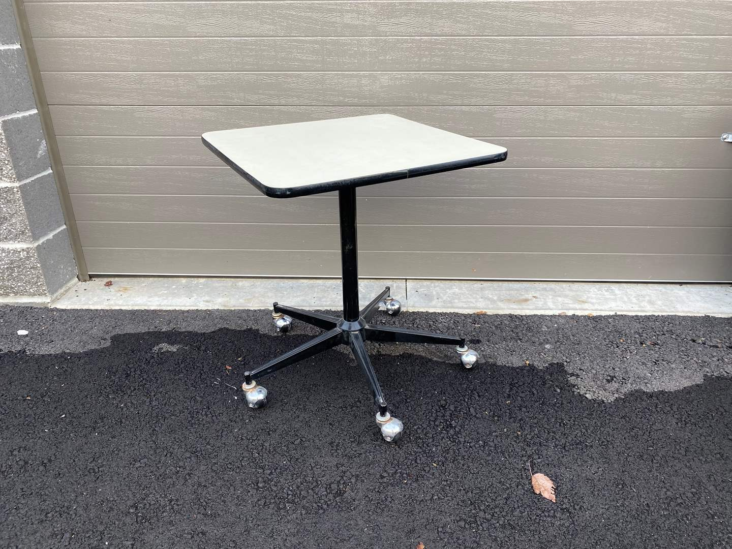 Lot # 96 - Small Table on Casters (main image)
