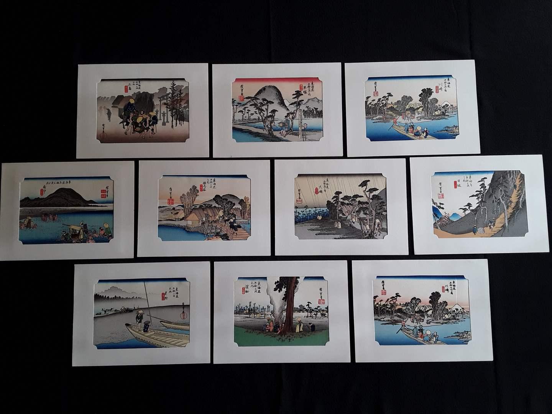 Lot # 70 - Lot of (10) Japanese Woodblock Prints - Hiroshige Ando (main image)