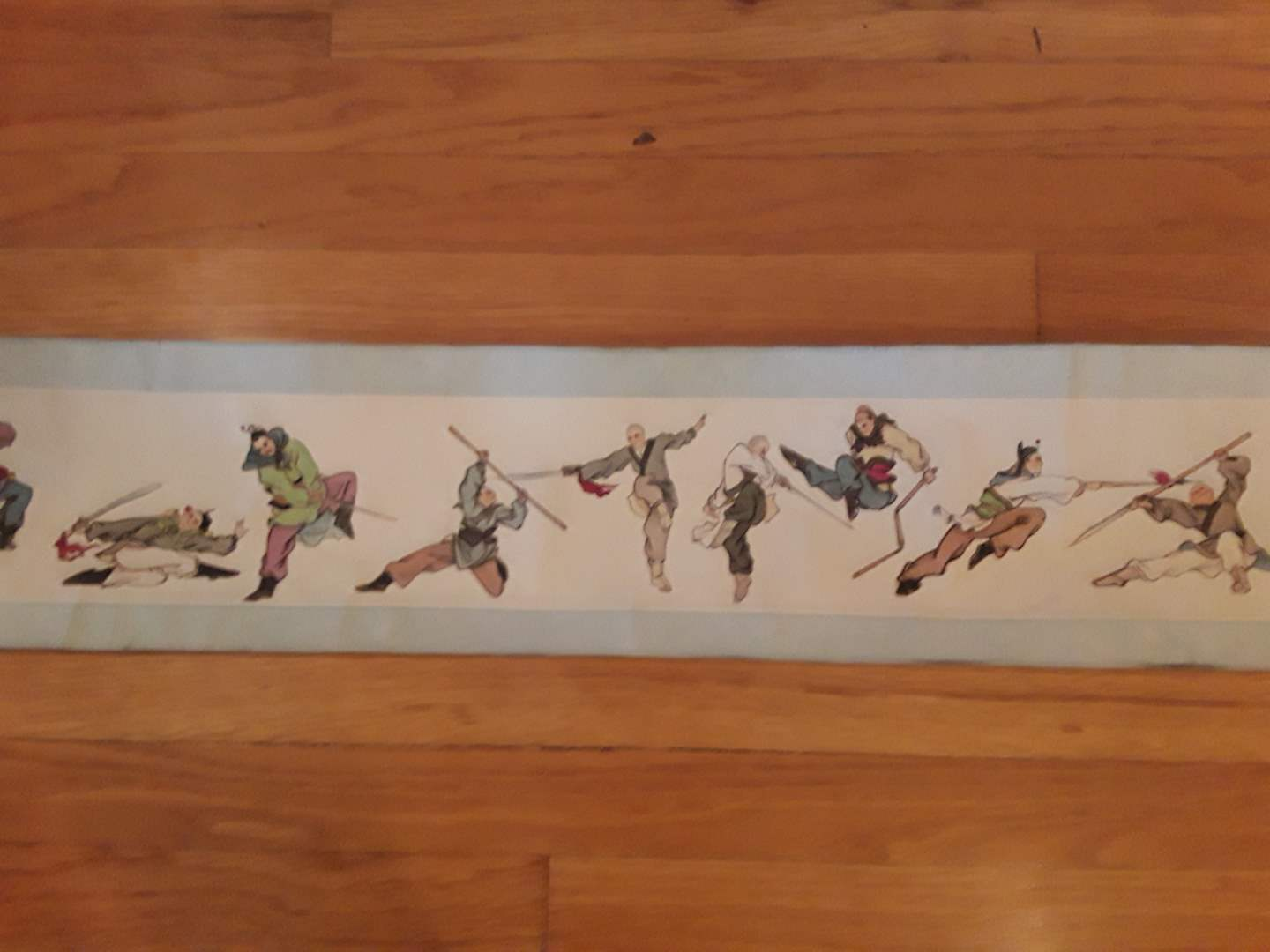 Lot # 83 - Asian Scroll of Kung Fu Poses (main image)