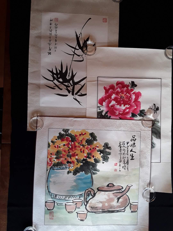 Lot # 88 - Lot of (3) Asian Watercolors (main image)