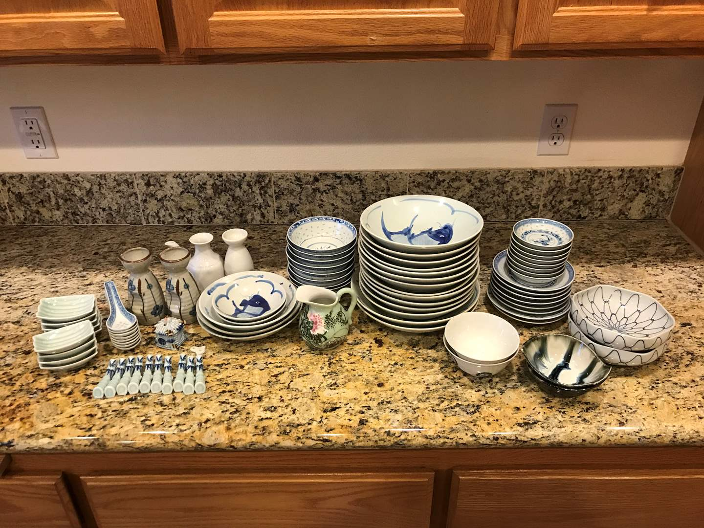 Lot # 56 - Asian Bowls of Various Sizes, Spoons & More.. (main image)