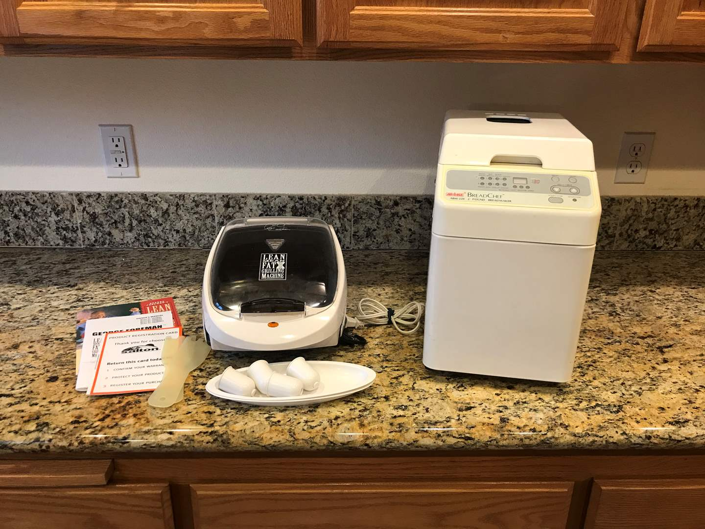 Lot # 64 - Aroma Bread Maker & Lightly Used George Foreman  (main image)