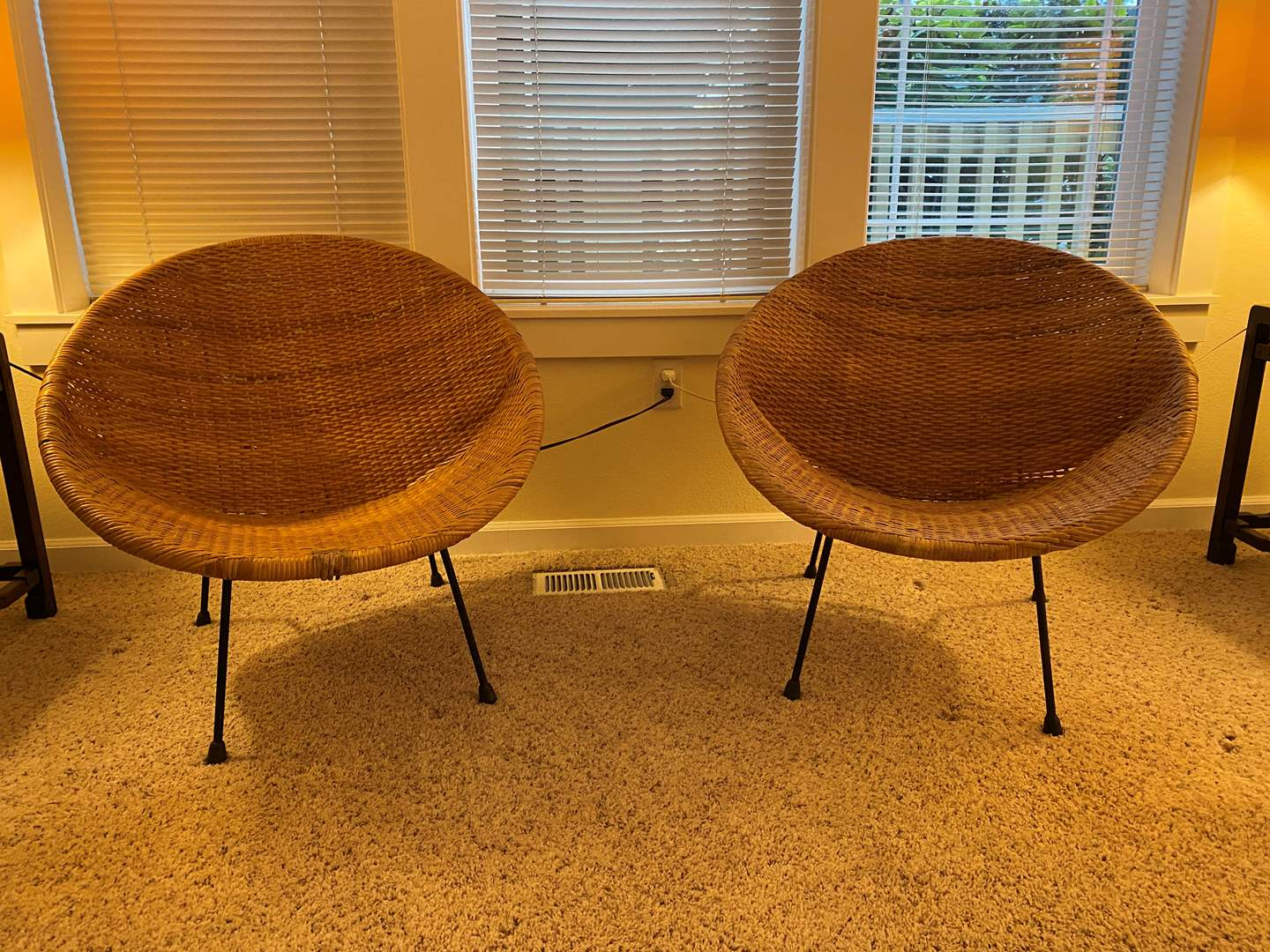 Lot # 35 - Two Vintage Wicker Chairs (main image)