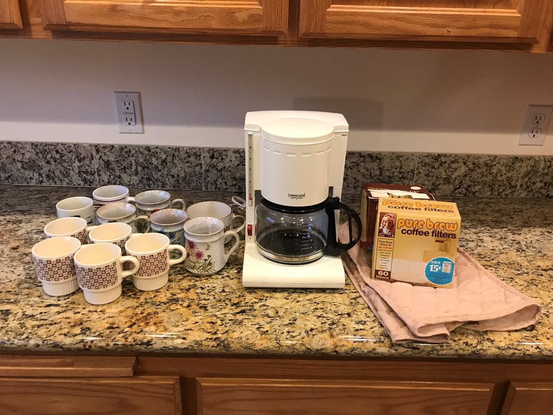 Lot # 69 - Connaisseur Coffee Maker, Coffee Mugs & Filters (main image)