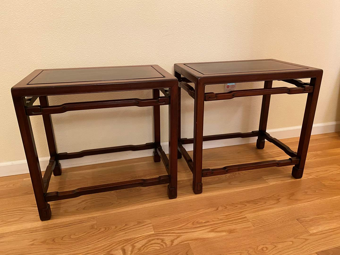 Lot # 37 - Two Nice Cherry Wood Side Tables  (main image)