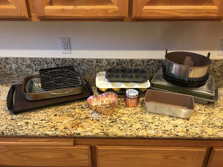 Lot # 73 - Selection of Baking Sheets, Cake Pans, Cupcake Pan, Bread Pans & More.. (main image)