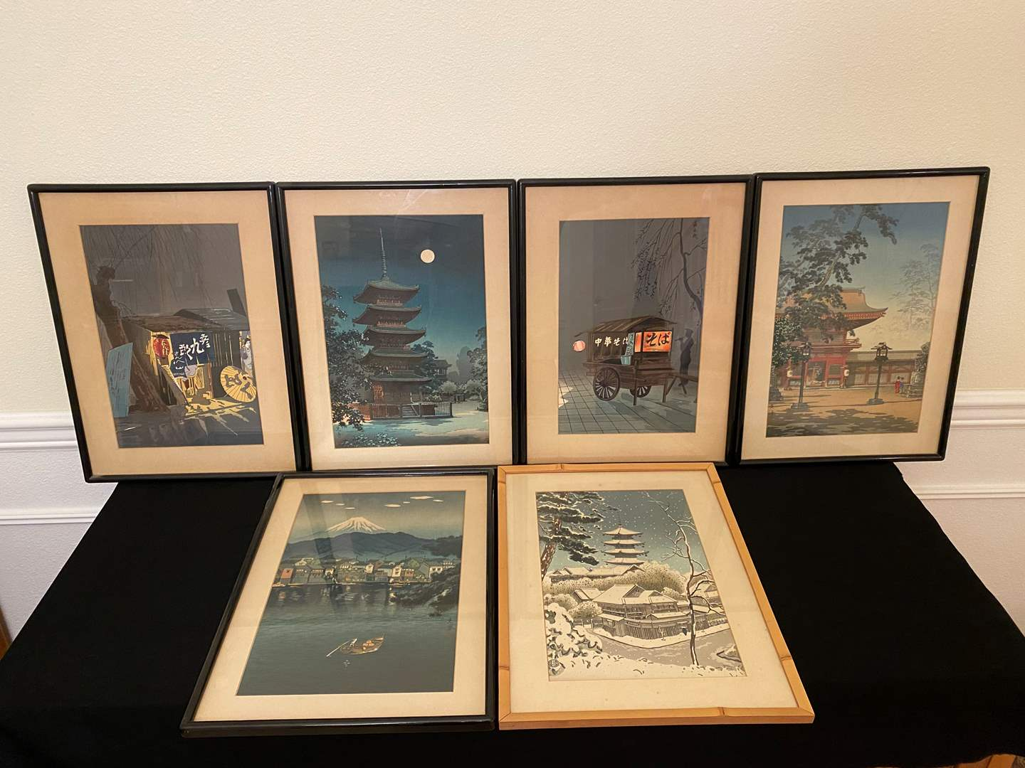 Lot # 46 - Six Signed Framed Asian Water Colors (main image)