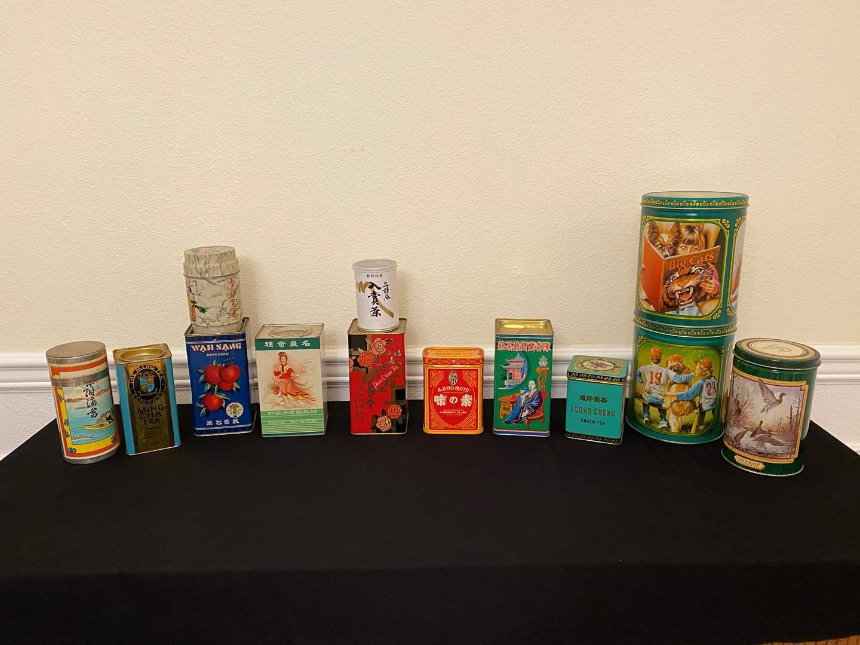 Lot # 107 - Vintage Asian & American Tins (main image)